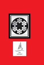 Verzinkte Staalkabel Rood PVC omsp. 6x7+1pp 1000 mtr. haspel