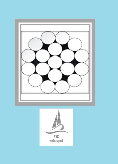 Rvs Staalkabel 1x19 AISI-316 1000 meter (stug)