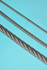 Rvs Staalkabel 7x7 AISI-316 250 meter op haspel 0,63mm t/m. 8mm