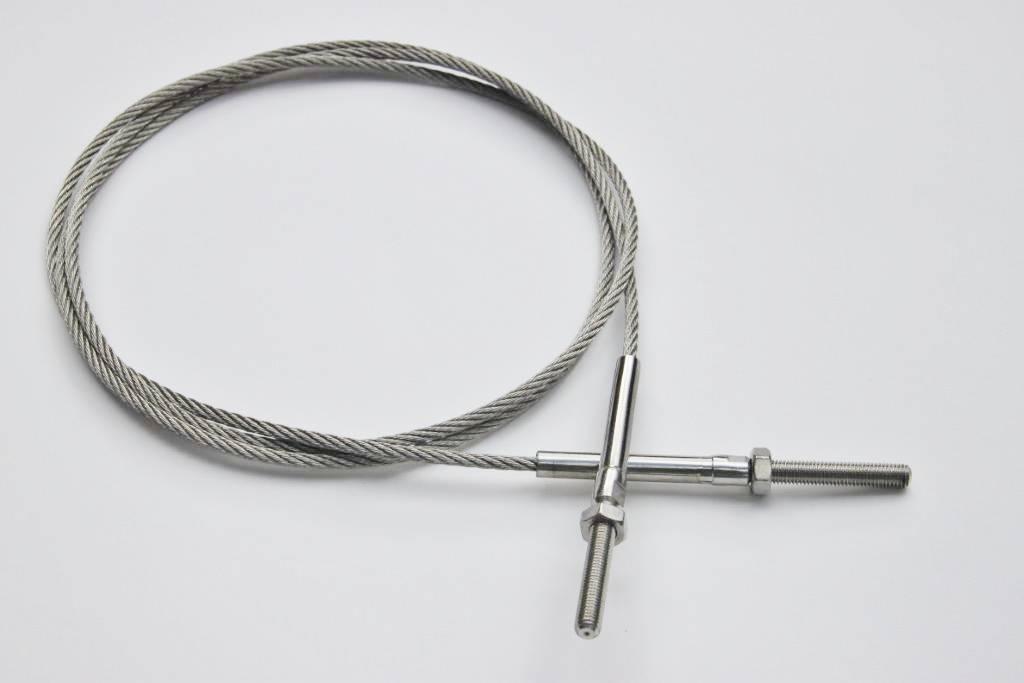 Staalkabel op maat 8mm 7x19 Rvs AISI-316 aangewalst