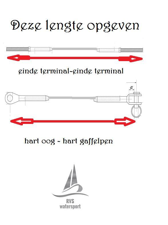Rvs Staalkabel 3mm 7x19 AISI-316 aangewalst