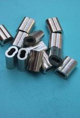 Persklem Tin / koperen 8-vormige  voor Rvs kabel