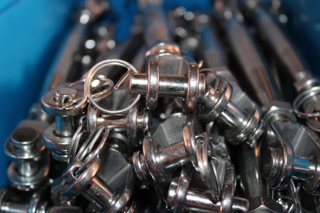 Rvs Stud/spanner/gaffel AISI-316, voor staalkabel 3mm t/m 10mm