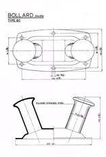 Rvs dubbele Bolder AISI-304