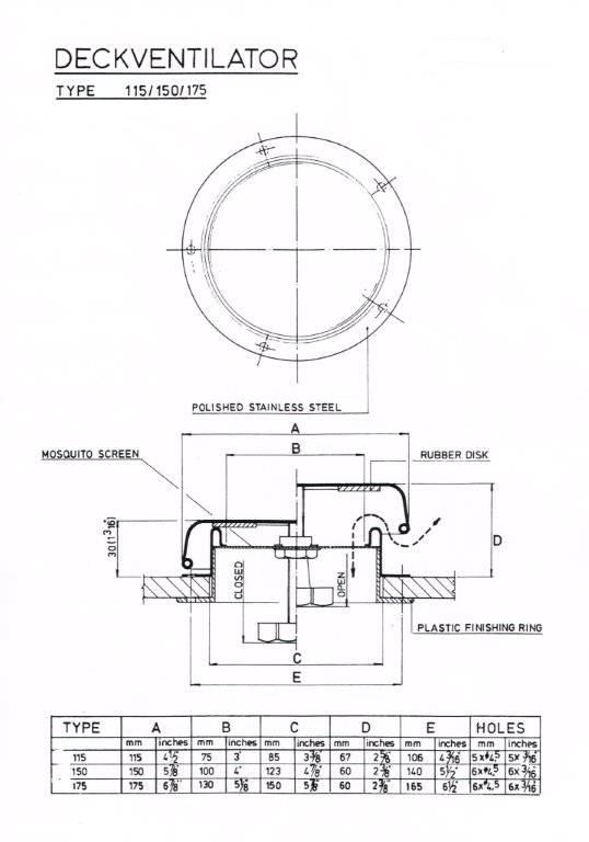 Rvs Paddenstoel Dekventilator AISI-304