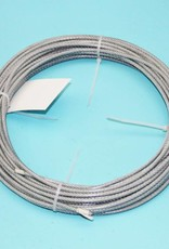 Rvs Staalkabel Transparant PVC omspoten 7x19, 100 mtr