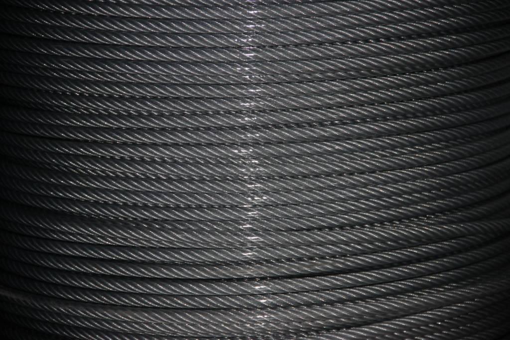 Rvs Staalkabel Transparant PVC omspoten 7x19, 1000 mtr