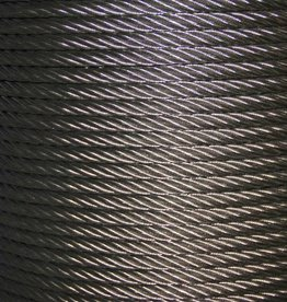 Rvs Staalkabel 7x7 AISI-316 250 mtr. op haspel
