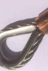 Rvs staalkabel 7x19 6mm met oog geklemd