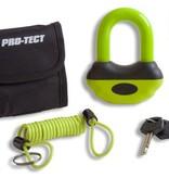 Protect Beugelslot - Schijfremslot art klasse 4 Zwart/Geel