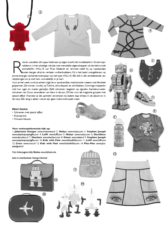 Jellystone Designs ketting met robot in Days Magazine