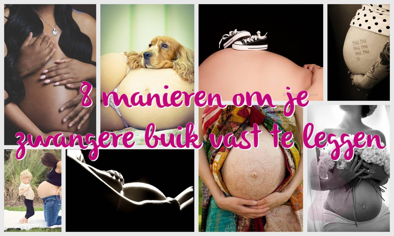 8 manieren om je zwangere buik vast te leggen
