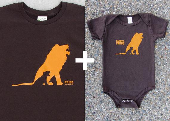 Tshirt voor papa en romper voor je kleintje