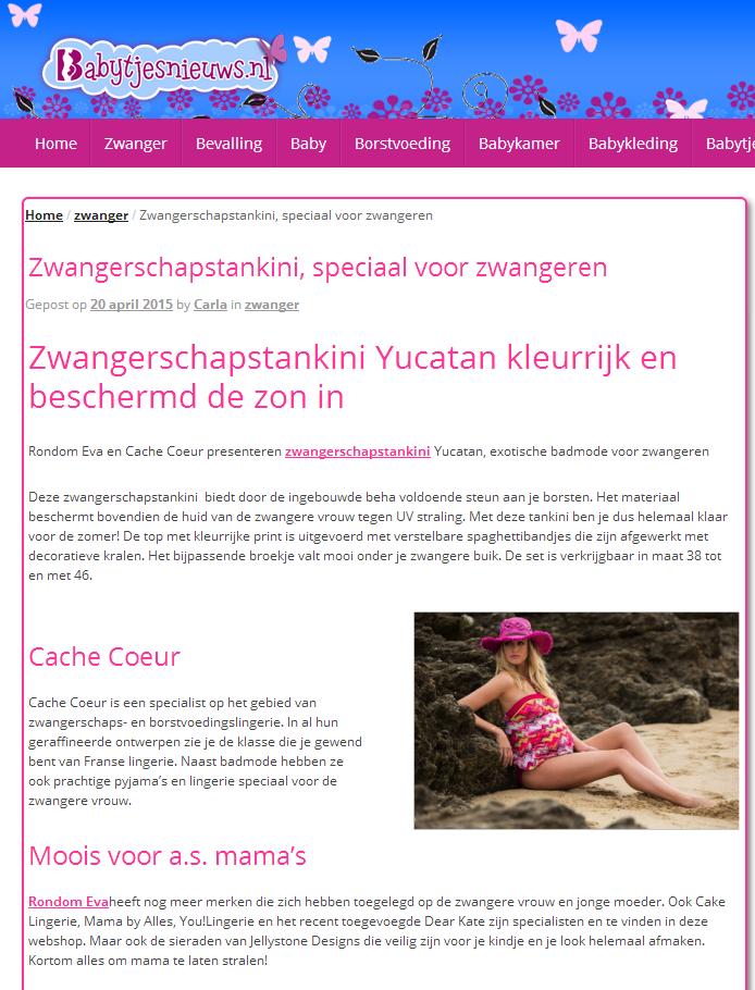 Zwangerschapstankini Yucatan gespot door Babytjes.nl