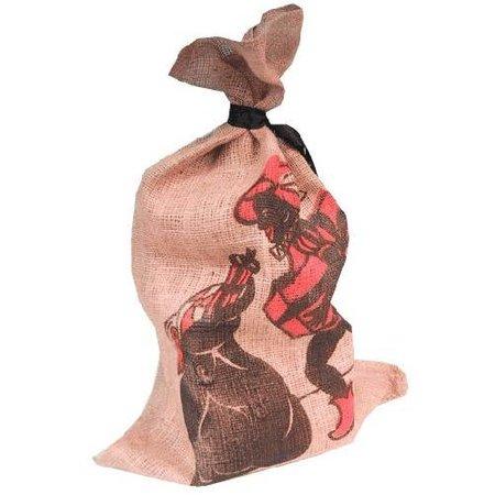 Jute zak Sinterklaas Zwarte piet