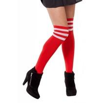 Cheerleader sokken rood/wit