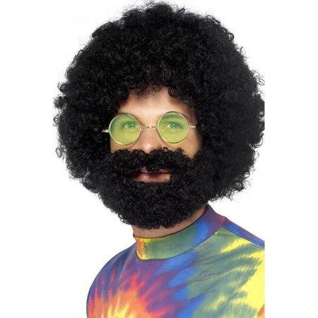 Groovy dude afro pruik en baard