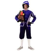 Piet kostuum blauw/zilver