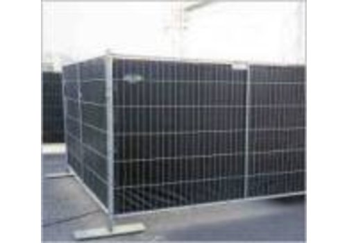 Flame retardant fence tarp PE 150 - Black