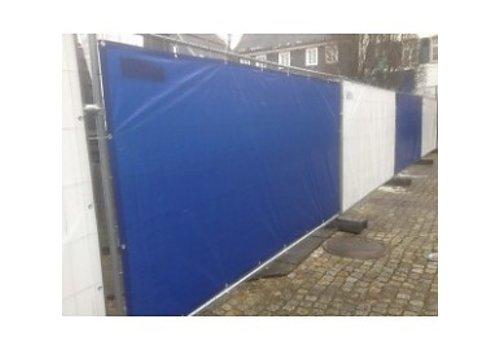 Bouwhekzeil PE 150 - Blauw