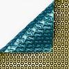 Zwembadzeil noppenfolie Blauw/Goud 500 micron Geobubble