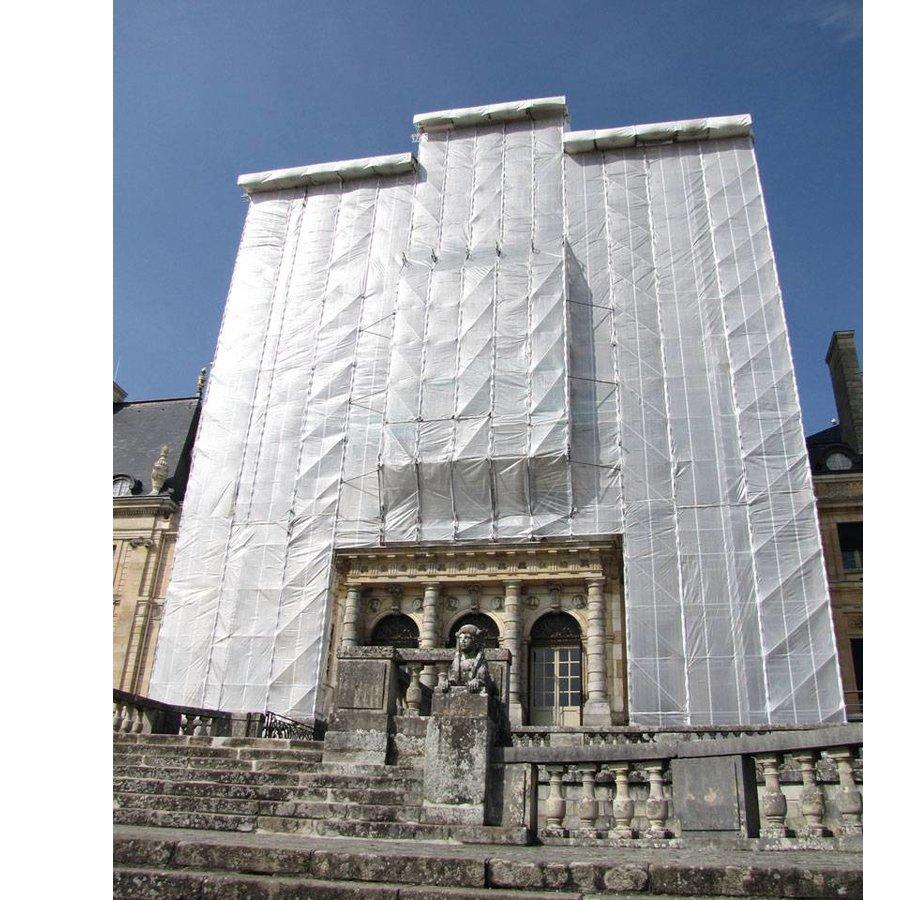 Scaffolding net 90% wind reduction Flame Retardant - 2,57m x 50m - White