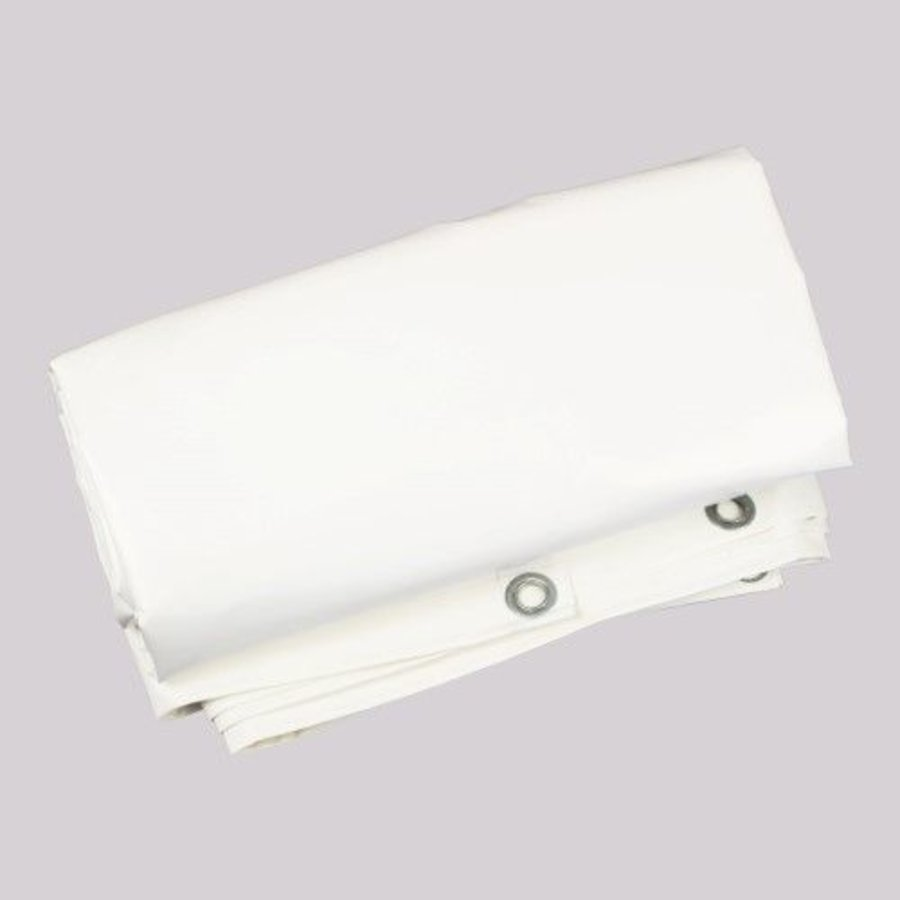 Brandvertragend afdekzeil 2x3m PVC 650 gr/m² NVO norm M2/DIN4102-B1 - Wit