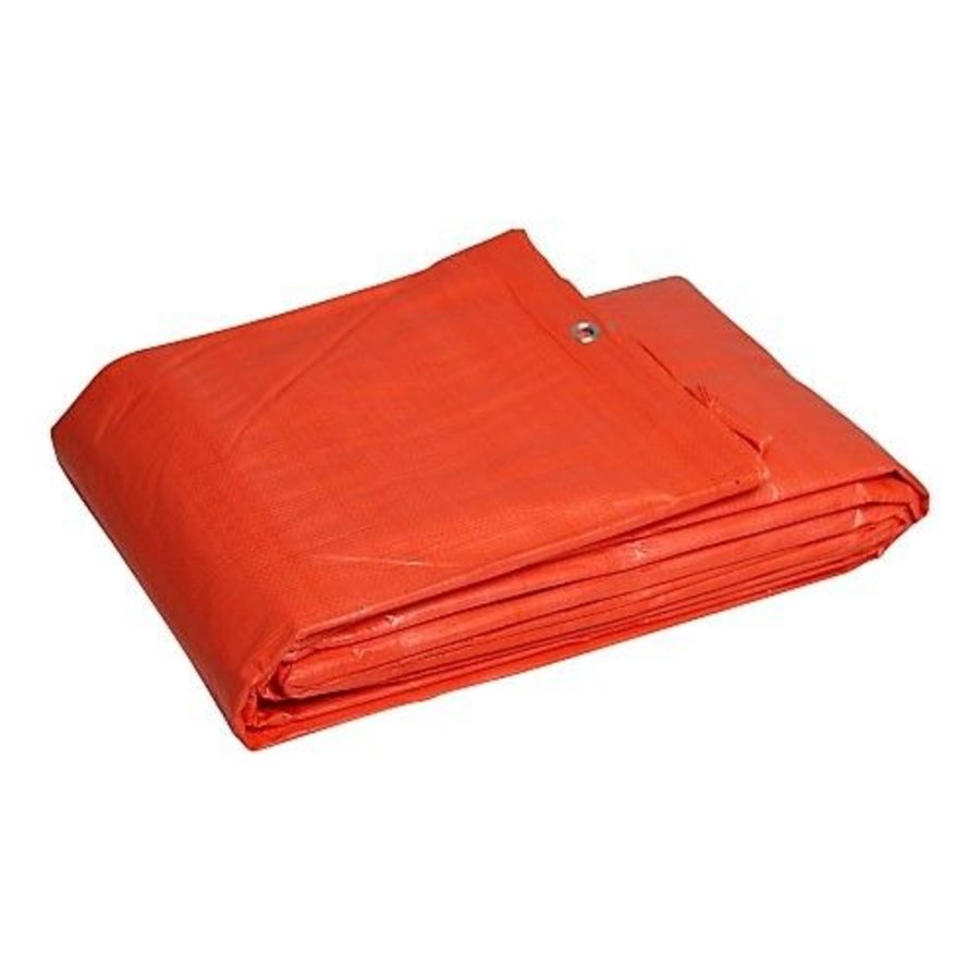 Tarp 6x10 'Light' PE 100 gr/m² - Orange