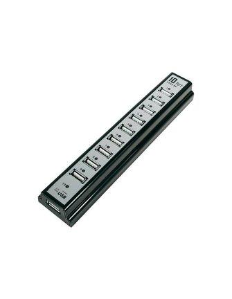AW Powered Fast 10 ports USB 2.0 Hub Plug & Play Android TV