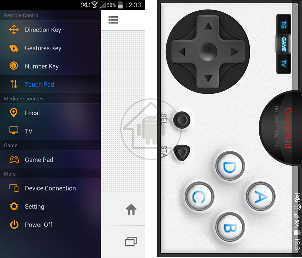 Firefly UI gamepad android warehouse