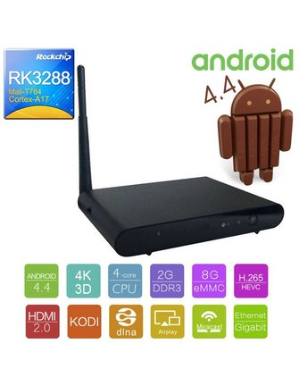 Ugoos UGOOS UG420 Rockchip RK3288 Quad ANDROID Fernsehkasten mit 2,0 MP-Kamera