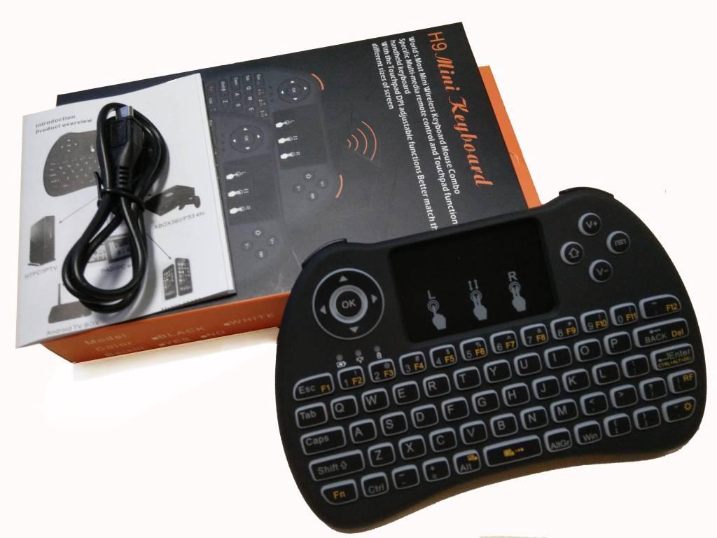 iStreamer H9 Mini Backlite Toetsenbord / Multi-Touchpad