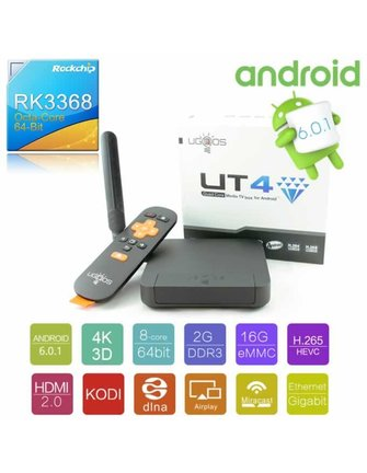 Ugoos UGOOS UT4 ROCKCHIP RK3368 64-BIT OCTACORE ANDROID TV BOX / ANDROIDBOX / MINI PC