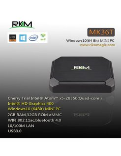 MK36T Intel Atom Z8350 X5 Windows-TV-Box / Mini-PC