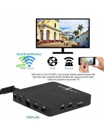 Ugoos AM3 4K HDR OCTACORE 2.0 GHZ ANDROID TV BOX / MINI PC