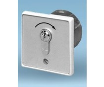 Key switch, flush mounted, pulse contact