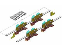 Carriage set for Besam sliding doors