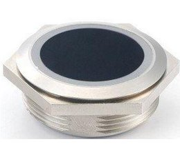 Infrared touchless switch round 39 mm surface mounted with two-colour LED ring