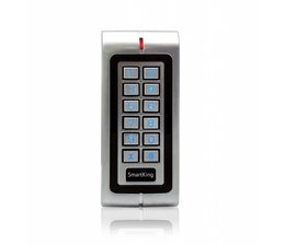 SmartKing™ Metal waterproof standalone for single door with PIN & RFID(EM), 12-18Vac or 12-24Vdc.1 relais, 2500 users