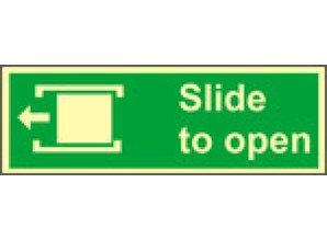 Slide to Open Left
