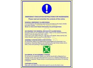 Emergency Evacuation Instruction For Passangers