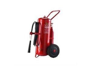 Powder trolley extinguisher