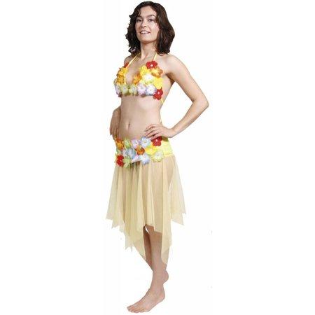 Hawaii tropische kleding set geel