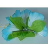 Haarclip bloem blauw
