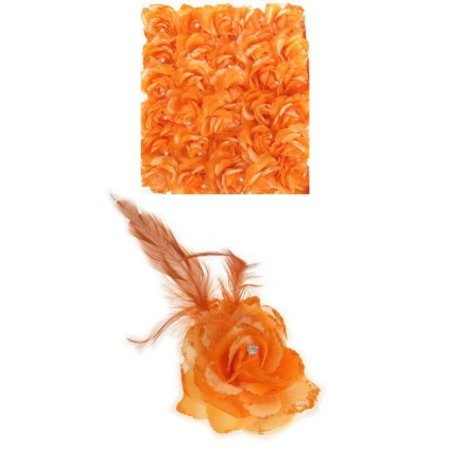 Haarbloem/Broche Roos Oranje