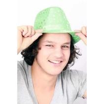 Sunny hoed metallic groen