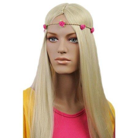 Haarband Roosjes Donker Roze