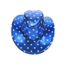 Stetsonhoed metallic blauw met sterren