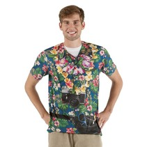 Realistisch foto Hawaii shirt tourist
