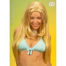 Pruik Beach Girl blond